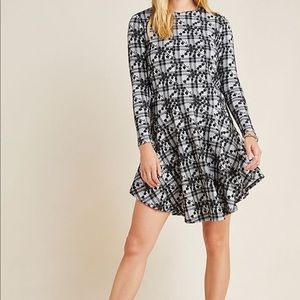 Anthropologie Jeanie Embroidered Plaid Tunic